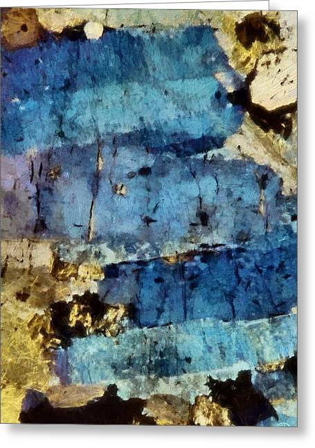 Mind Split Greeting Cards - Blue layers of the mind Greeting Card by Gun Legler