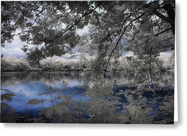 Infrared Greeting Cards - Blue love Greeting Card by George Saad