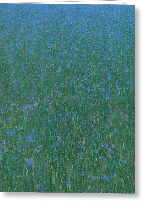 Misty Landscape Greeting Cards - Blue Meadow 2 Greeting Card by Steve Mitchell