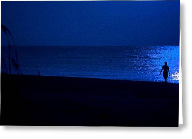 Crimson Tide Greeting Cards - Blue Moon Greeting Card by Michael Thomas