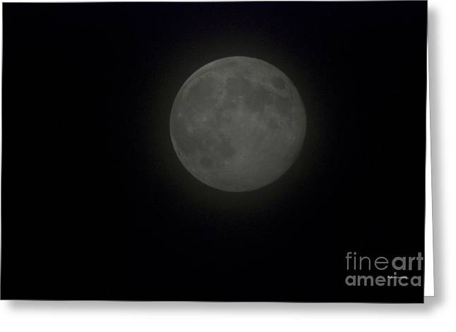 Man In The Moon Greeting Cards - Blue Moon Greeting Card by Thomas Woolworth
