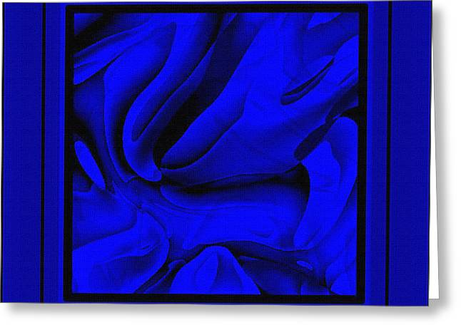 Morass Greeting Cards - Blue Morass Greeting Card by Dee Flouton