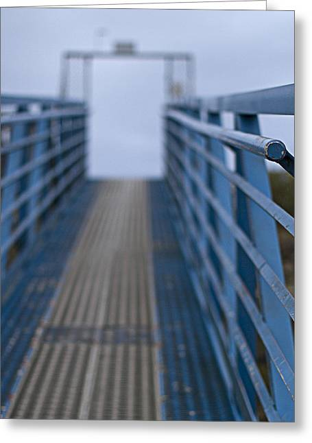 Ramps Greeting Cards - Blue Morning At The Dock Greeting Card by Rebecca Cozart