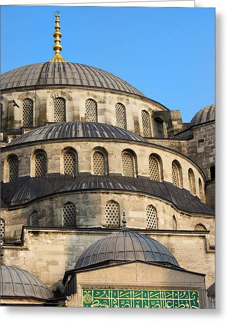 Stanbul Greeting Cards - Blue Mosque Domes Greeting Card by Artur Bogacki