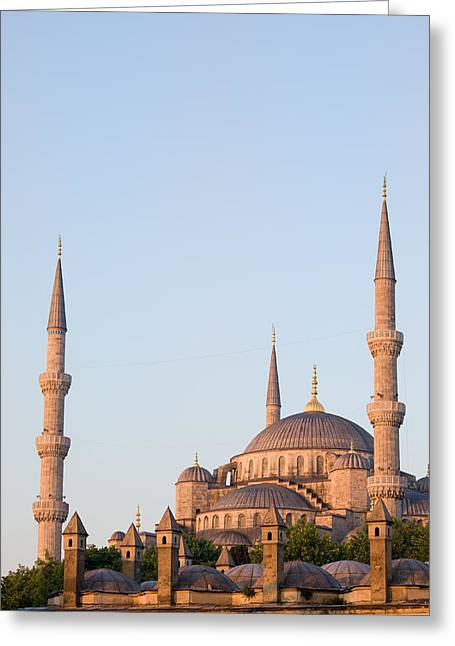 Stanbul Greeting Cards - Blue Mosque in Istanbul Greeting Card by Artur Bogacki