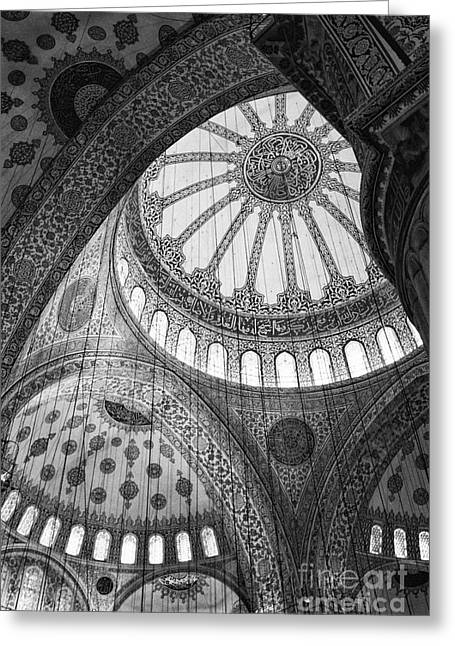 Leda Photography Photographs Greeting Cards - Blue Mosque Greeting Card by Leslie Leda