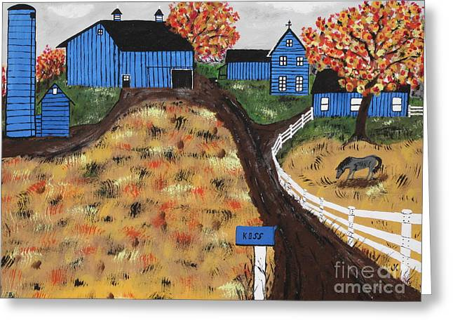 Outbuildings Greeting Cards - Blue Mountain Farm Greeting Card by Jeffrey Koss