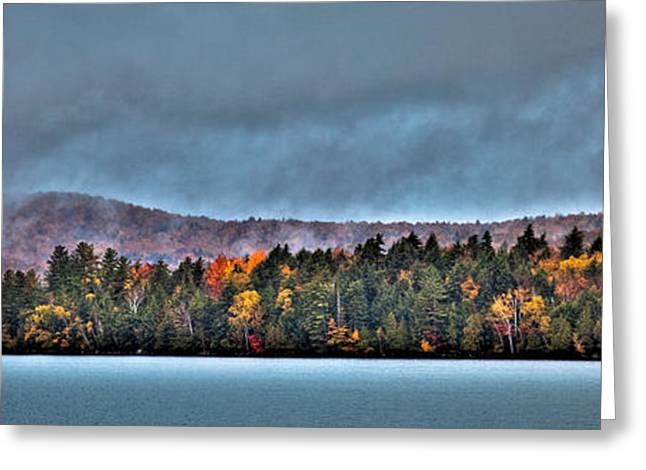 Fir Trees Greeting Cards - Blue Mountain Lake Greeting Card by David Patterson