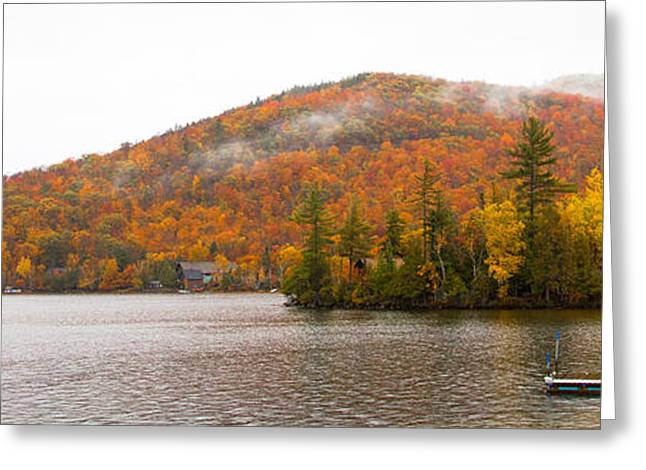 Fir Trees Greeting Cards - Blue Mountain Lake in Upstate New York Greeting Card by David Patterson