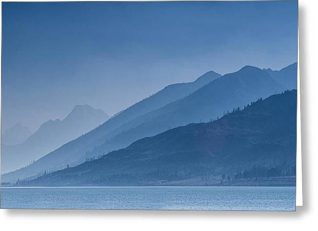 Mountains Greeting Cards - Blue Mountain Ridges Greeting Card by Andrew Soundarajan