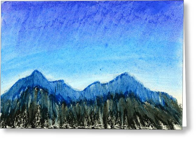 Blue Mountains Greeting Card by Hakon Soreide