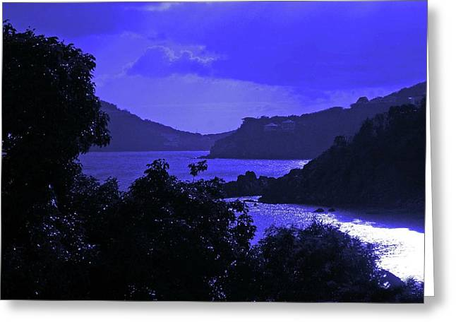 Crimson Tide Greeting Cards - Blue Nights Greeting Card by Michael Thomas