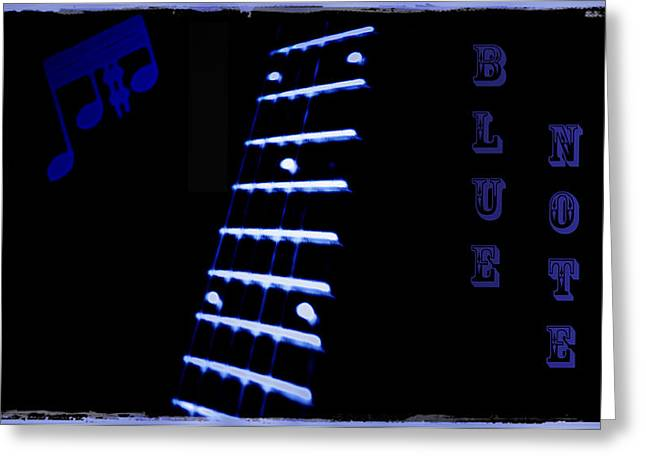 Blue Note Greeting Card by Bill Cannon