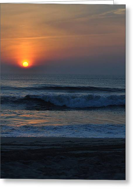 Paul Lyndon Phillips Greeting Cards - Blue Orange Sunrise Nags Head - c3533c Greeting Card by Paul Lyndon Phillips