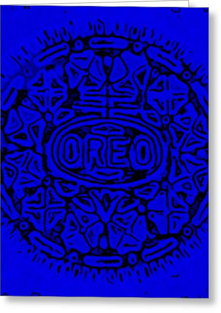 Oreo Greeting Cards - Blue Oreo Greeting Card by Rob Hans