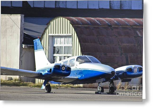Hdr Photo Greeting Cards - Blue Plane Needs Propellers  Greeting Card by Pictures HDR