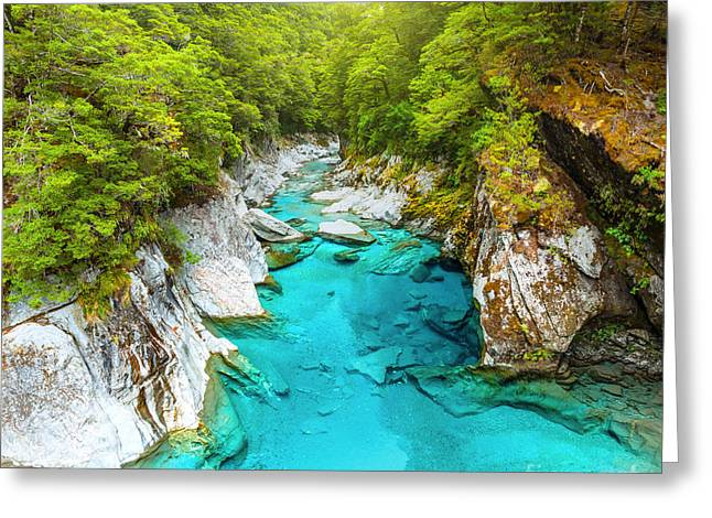 Nature Scene Greeting Cards - Blue pools Greeting Card by MotHaiBaPhoto Prints