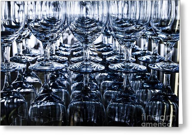 Winetasting Greeting Cards - Blue reflection Greeting Card by Chavalit Kamolthamanon