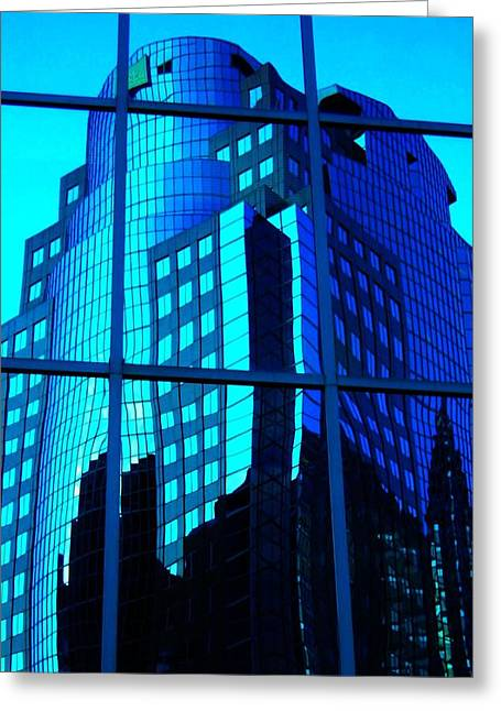 Fenster Photographs Greeting Cards - Blue Reflections ... Greeting Card by Juergen Weiss