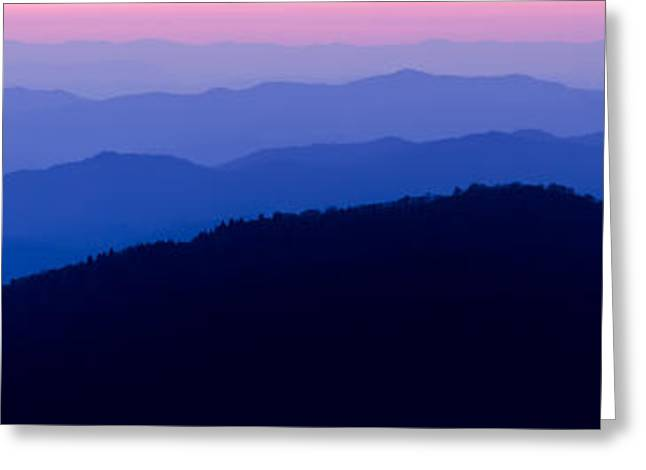 North Carolina Mountains Greeting Cards - Blue Ridge Mountains Greeting Card by Dustin K Ryan