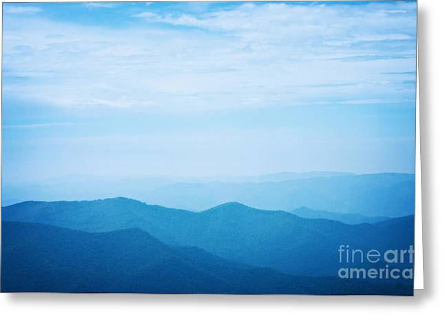 Blues Greeting Cards - Blue Ridge Mountains Greeting Card by Kim Fearheiley