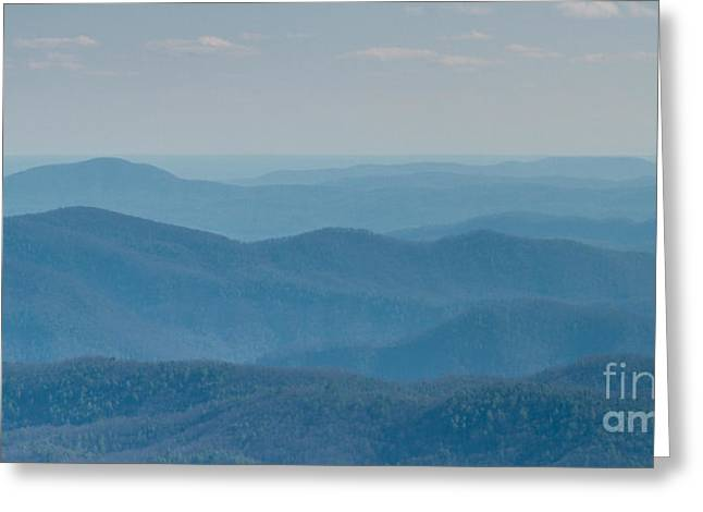 North Carolina Mountains Greeting Cards - Blue Ridge Mountains of North Carolina Greeting Card by Dustin K Ryan