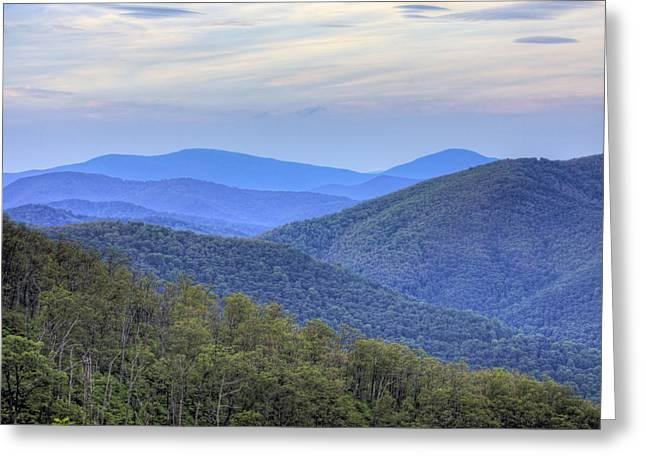 Virginia Landscape Greeting Cards - Blue Ridge Mountains of Shenandoah National Park Virginia Greeting Card by Brendan Reals