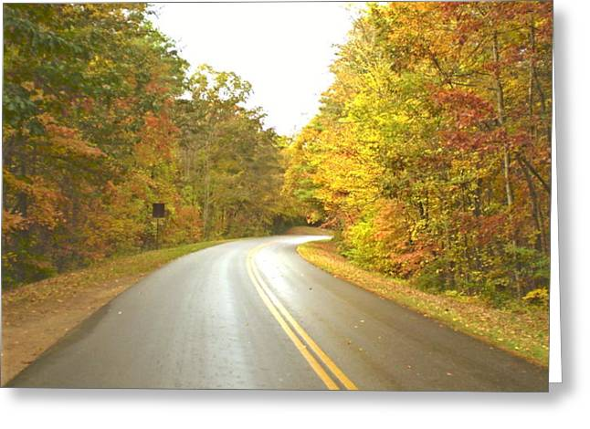 blue ridge parkway in fall Greeting Card by Utopia Concepts