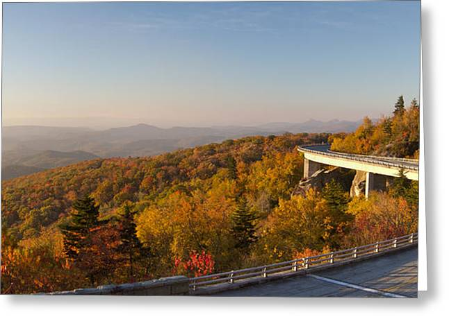 Stop Greeting Cards - Blue Ridge Parkway Linn Cove Viaduct Fall Colors Greeting Card by Dustin K Ryan