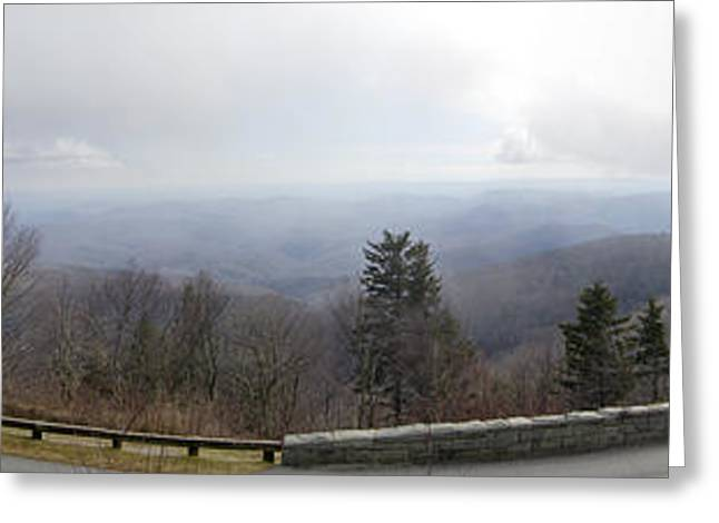 Blue Ridge Parkway Greeting Cards - Blue Ridge Parkway Linn Cove Viaduct Panorama Greeting Card by Dustin K Ryan