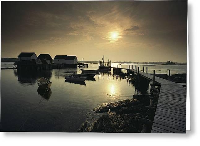 Nova Scotia Photographers Greeting Cards - Blue Rocks, A Fishing Village Greeting Card by James P. Blair