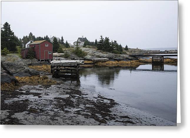 Blue Rocks Nova Scotia 8 Greeting Card by John Burnett