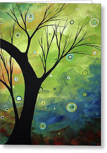 Licensor Greeting Cards - Blue Sapphire 3 by MADART Greeting Card by Megan Duncanson