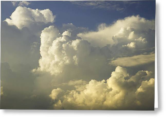 Skylights Greeting Cards - Blue Sky And Building Storm Clouds Fine Art Print Greeting Card by Keith Webber Jr