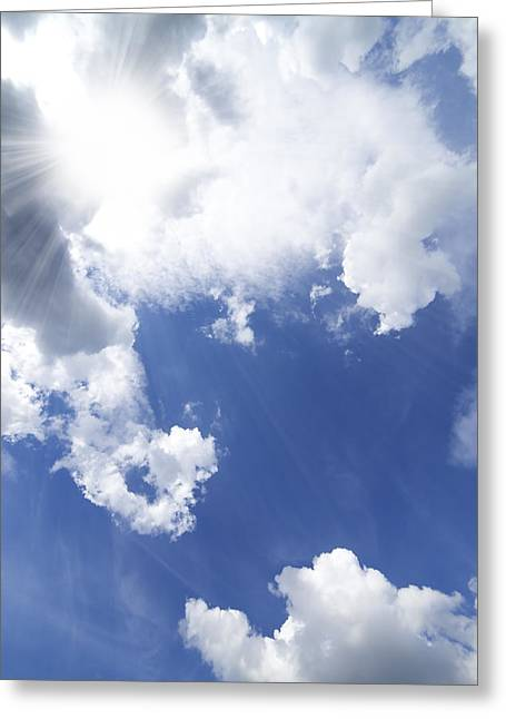 Purity Greeting Cards - Blue Sky And Cloud Greeting Card by Setsiri Silapasuwanchai