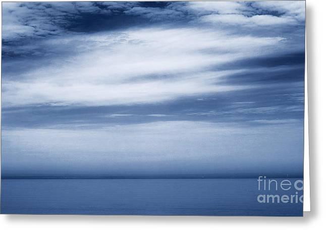 Aquatic Greeting Cards - Blue Sky  Greeting Card by Angela Rose