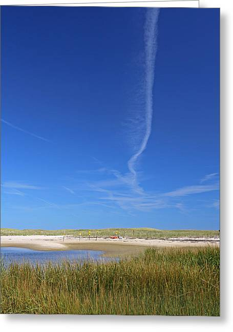 Marconi Beach Greeting Cards - Blue Sky over Nauset Beach Greeting Card by Juergen Roth
