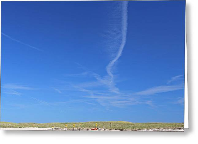 Blue Sky over Nauset Beach Greeting Card by Juergen Roth