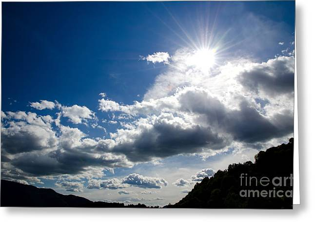 Blue Sky With Clouds Greeting Card by Mats Silvan