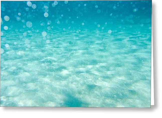 Air Bubbles Greeting Cards - Blue Greeting Card by Stylianos Kleanthous