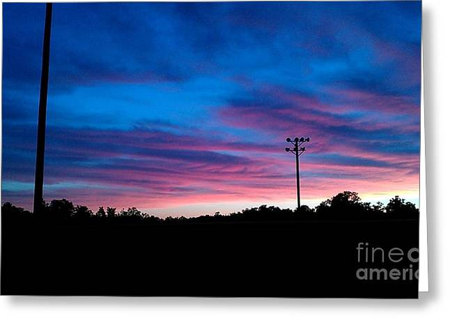 Nick Greeting Cards - Blue sunset Greeting Card by Nick