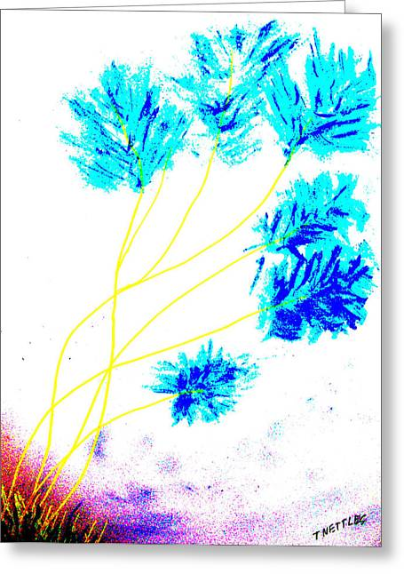 Still Life Photographs Drawings Greeting Cards - Blue Greeting Card by Tom Nettles