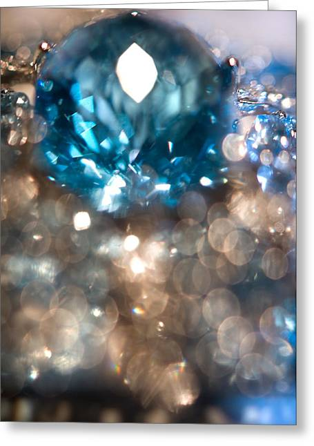 Fine Jewelry Greeting Cards - Blue Topaz. Spirit of Treasure Greeting Card by Jenny Rainbow