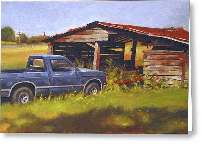 Blue Truck Greeting Cards - Blue Truck Greeting Card by Todd Baxter
