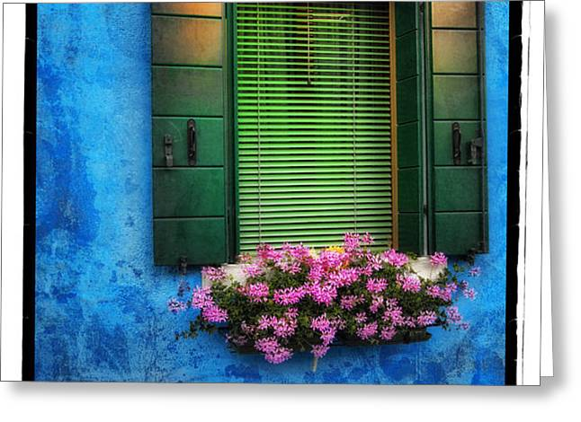 Blue Wall Greeting Card by Mauro Celotti