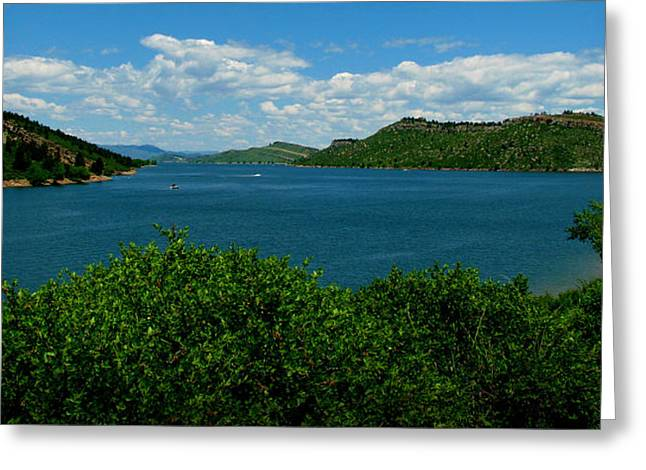 Horsetooth Reservoir Greeting Cards - Blue Waters of Horsetooth Reservoir Greeting Card by Aaron Burrows