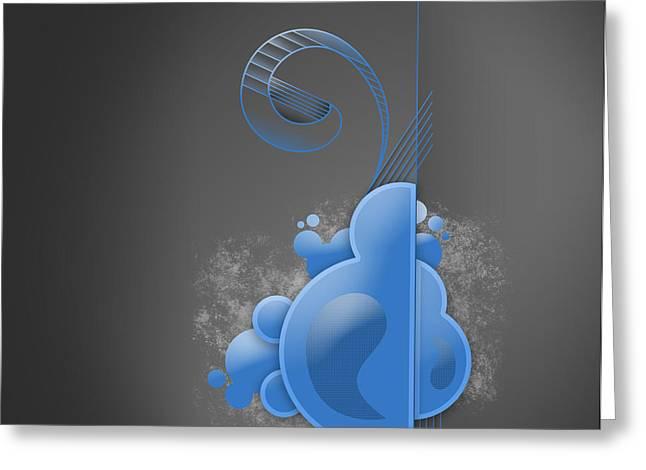 Blue Way Greeting Card by Devon VP