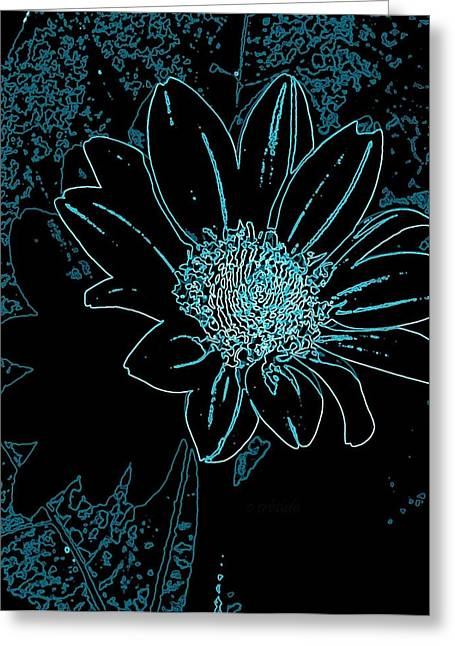 Nature Center Greeting Cards - Blue Wildflower   Greeting Card by Chris Berry