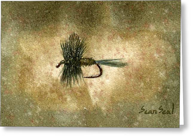 Fishing Fly Greeting Cards - Blue Winged Olive Greeting Card by Sean Seal