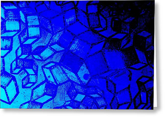 Spacial Greeting Cards - Blue Zinc Greeting Card by Chris Berry